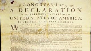 В Великобритании обнаружена рукописная копия Декларации независимости США