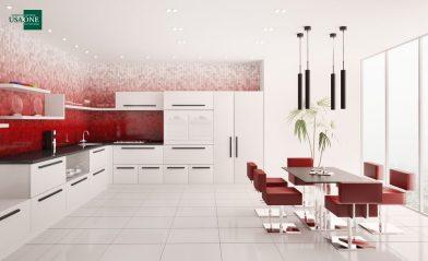 Полезное: бело-красная кухня