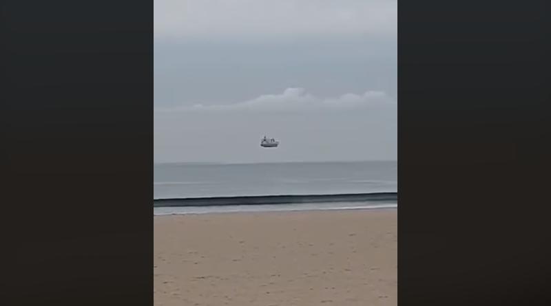 Видео: Корабль парит в воздухе: жительница Новой Зеландии сняла удивительную оптическую иллюзию
