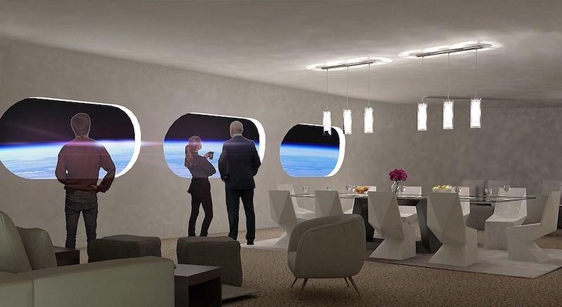 модель ресторана в космическом отеле
