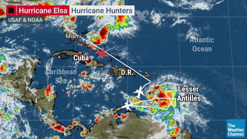 Погода: Эльза стала первым ураганом атлантического сезона — и, возможно, направляется во Флориду